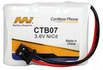 CTB07 - Cordless Phone Battery + Panasonic KXA36A