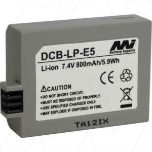 Digital Camera Battery - Canon - DCB-LP-E5