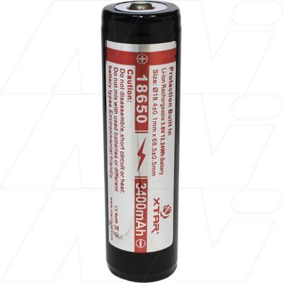 18650 3400mAh - Lithium Ion Torch Battery