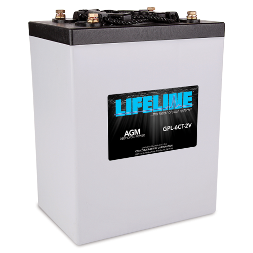 Lifeline Gpl 6c 2v Agm Deep Cycle Batteries The