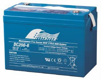 DC200-6 - Fullriver AGM Deep Cycle Battery