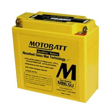 Motobatt MB5.5U – Premium AGM motorcycle, personal water-craft battery.